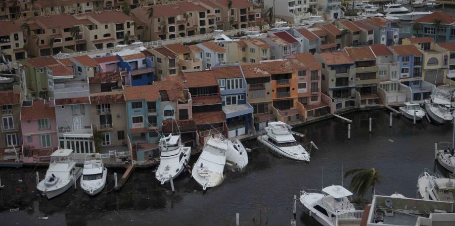 Unas 150 embarcaciones se hundieron por el huracán María en costas de P. Rico