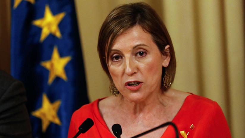 La presidenta del Parlamento catalán acusa a Rajoy de dar un