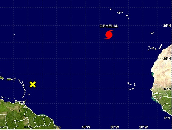 Ofelia sigue en ruta hacia las Azores como huracán de categoría 2