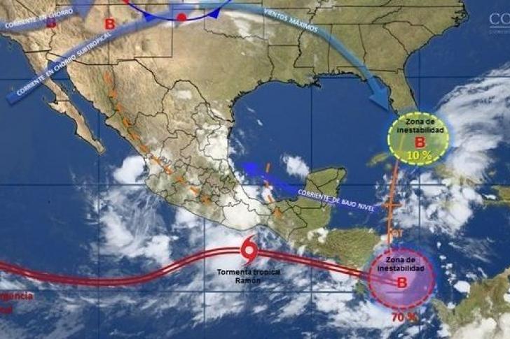 Se forma la tormenta tropical Ramón frente a las costas del sur de México