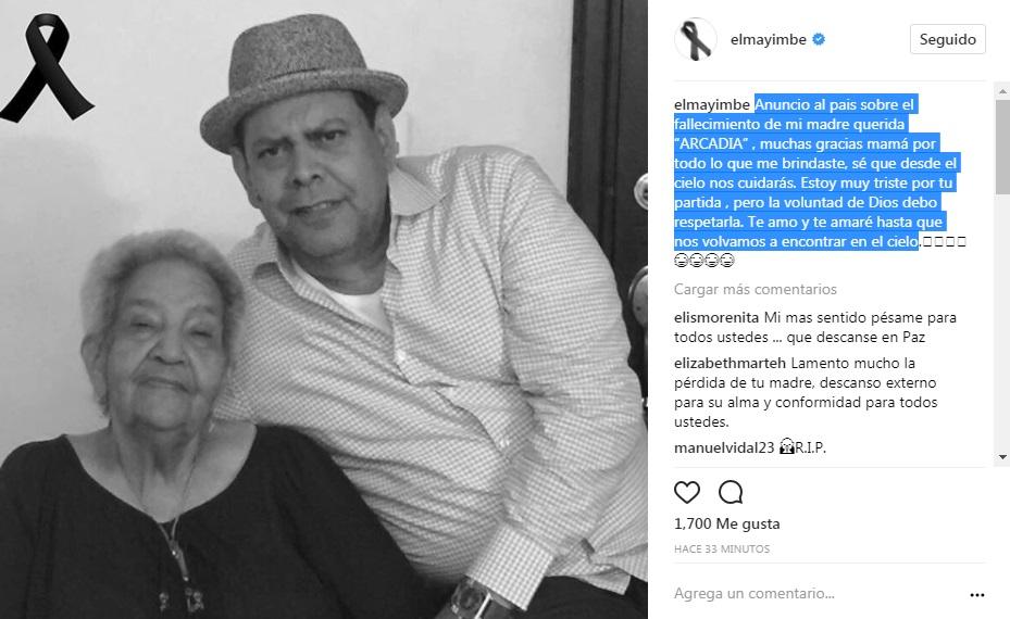 Muere madre de merenguero Fernando Villalona