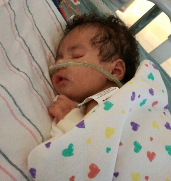 Bebé Astrid Montero presenta problemas respiratorios