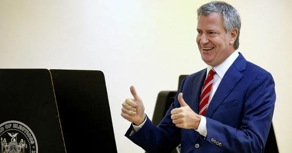 De Blasio gana las elecciones para alcalde de Nueva York