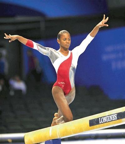 La gimnasta dominicana Yamilet Peña: