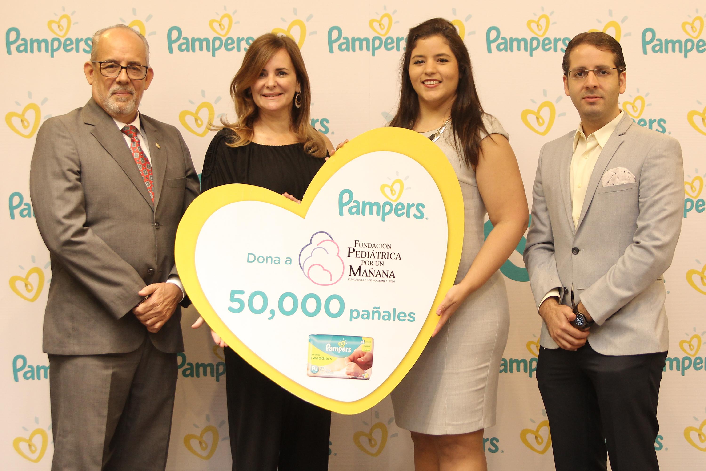 """Pampers®realiza donación de 50 mil pañales a la """"Fundación Pediátrica por un Mañana"""""""