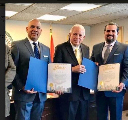Alcalde de Miami reconoce aportes de arquitectos dominicanos al desarrollo de esa ciudad