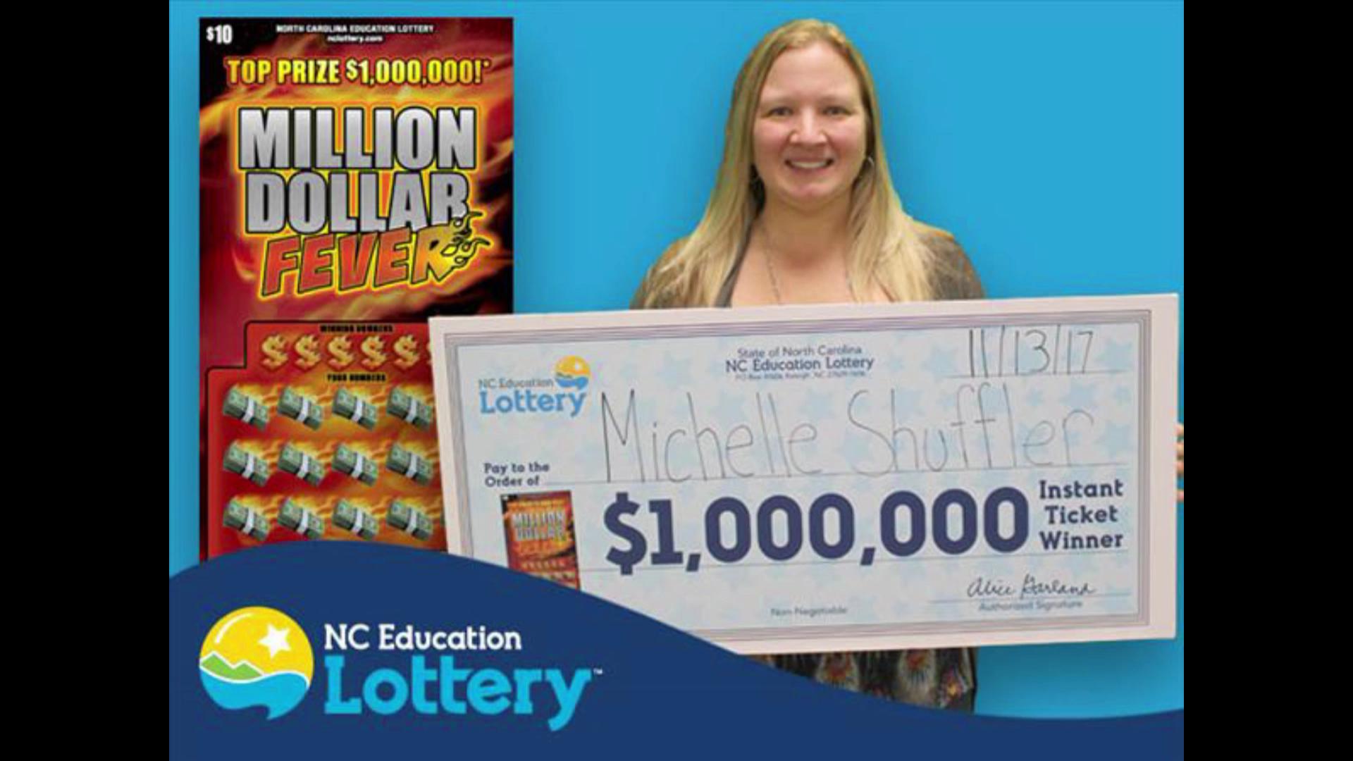Mujer encontró dos boletos de lotería premiados en Carolina del Norte en un mismo día