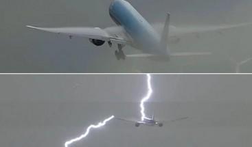 Potente rayo impacta con avión poco después de despegar