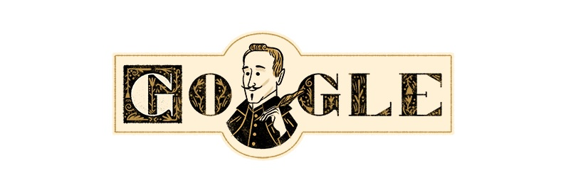 Google recuerda a Lope de Vega y le 'regala' un doodle por el 455 aniversario de su nacimiento