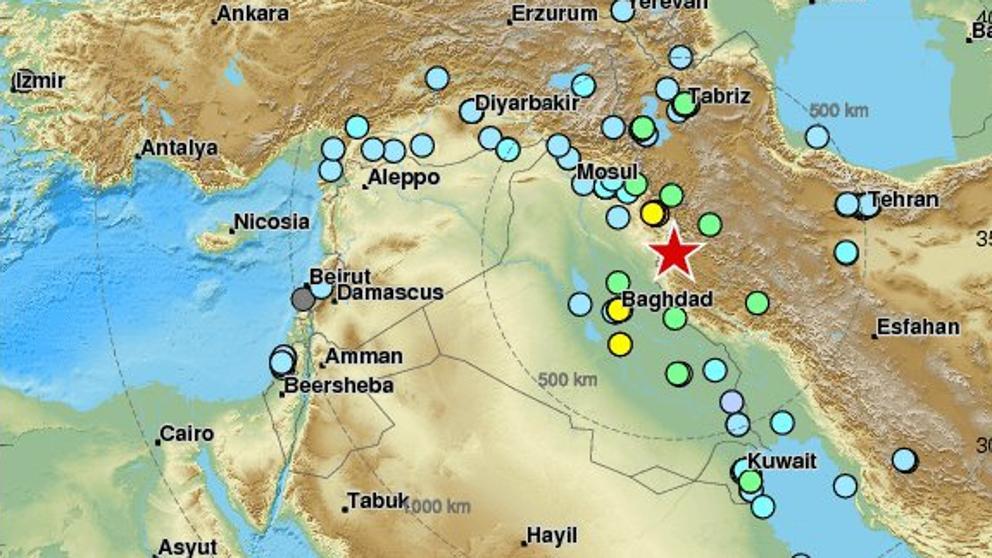 Al menos cuatro muertos y 500 heridos en el terremoto en Irak