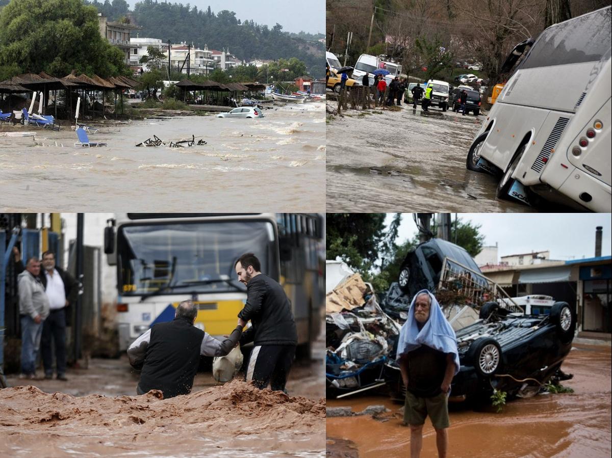 Grecia busca todavía a seis desaparecidos tras las inundaciones del miércoles