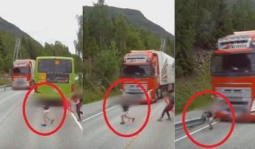 ¡De milagro! niño se salva de ser aplastado por una patana