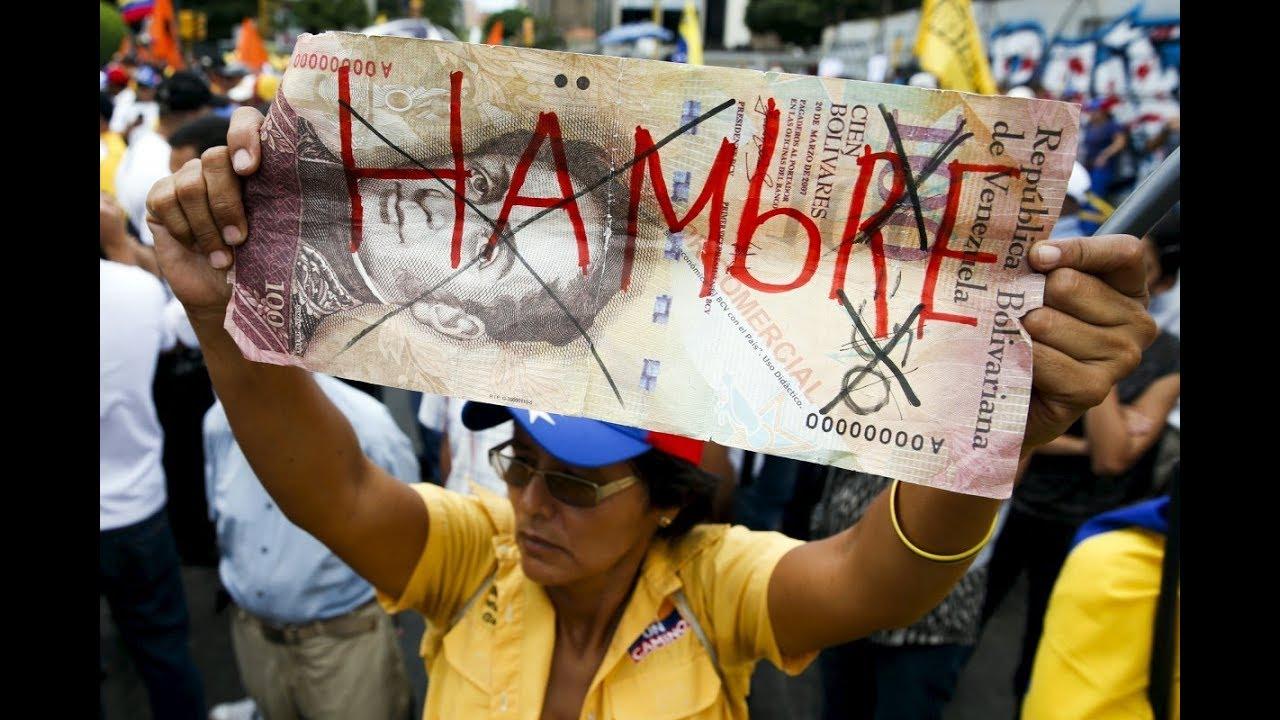 Venezolanos protestan por la escasez de