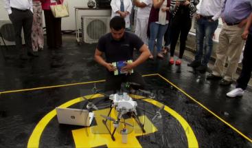 Utilizan dron para entregar medicamentos en Colombia