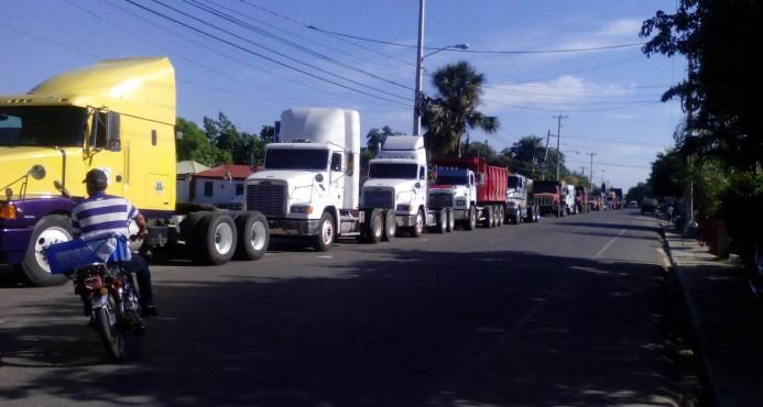 Camioneros en la zona fronteriza paralizaron labores en reclamo de sus compañeros detenidos en Hatillo
