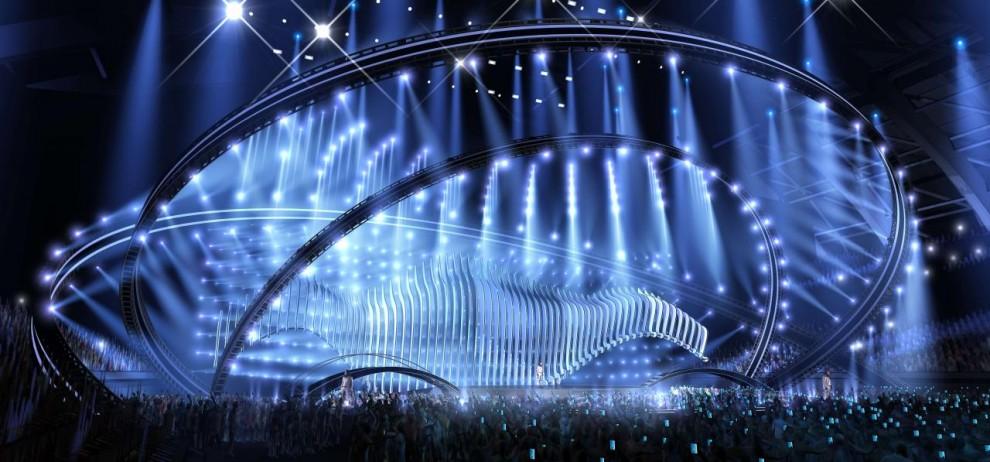 El escenario de Eurovisión 2018 se inspira en el casco de un barco y el mar