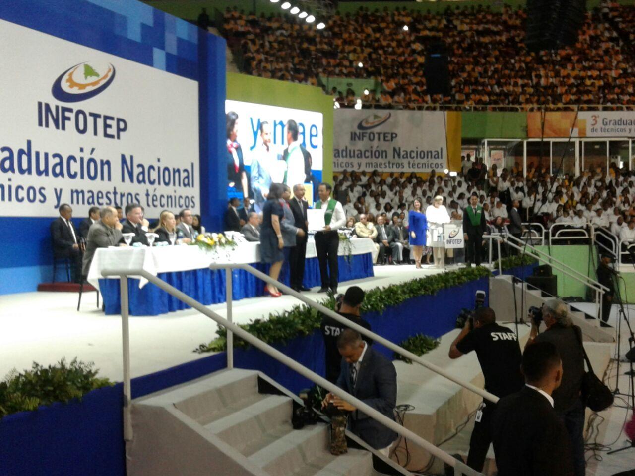 Infotep gradúa a 13 mil nuevos técnicos y maestros técnicos