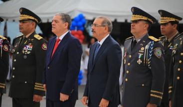 Presidente Medina encabeza acto de graduación de la cuadragésima promoción de cadetes
