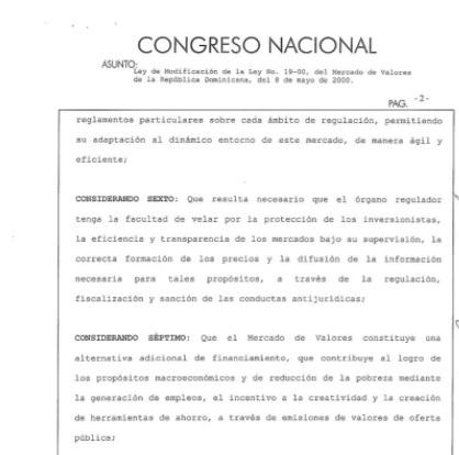 Presidente Medina promulga ley que modifica la 19-00 del Mercado de Valores de la R. Dominicana