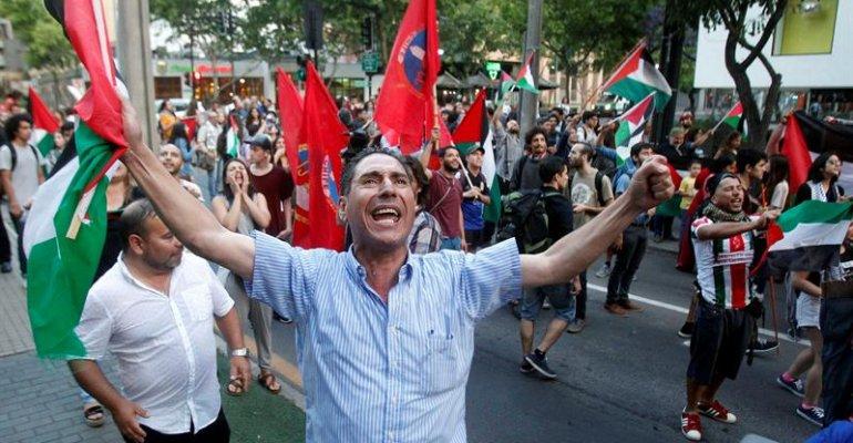 Unas 2.000 personas protestan en Chile por decisión de EE.UU. sobre Jerusalén