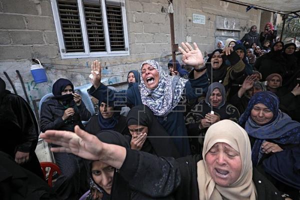 Día de luto nacional y funerales por los muertos palestinos en Gaza