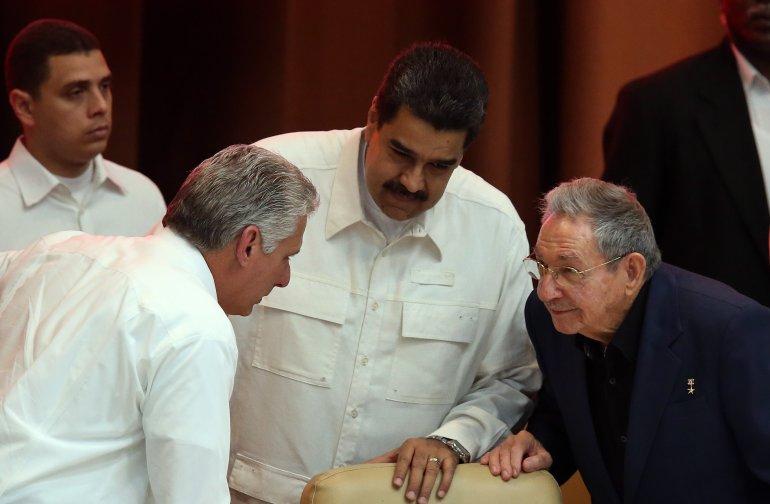 Díaz-Canel recibe a Maduro en el Palacio de la Revolución en Cuba