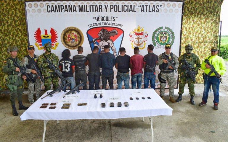 Detienen en Colombia a 7 miembros de disidencia de FARC liderada por Guacho
