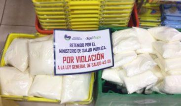 Ministerio de Salud decomisa leche en polvo se vendía a granel