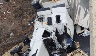 Camión cargado de barriles de cerveza cayó desde puente en EEUU