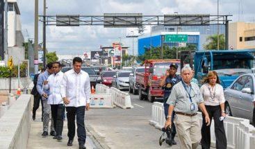 Alcalde DN inaugura reconstrucción acera frente a la Agencia Bella