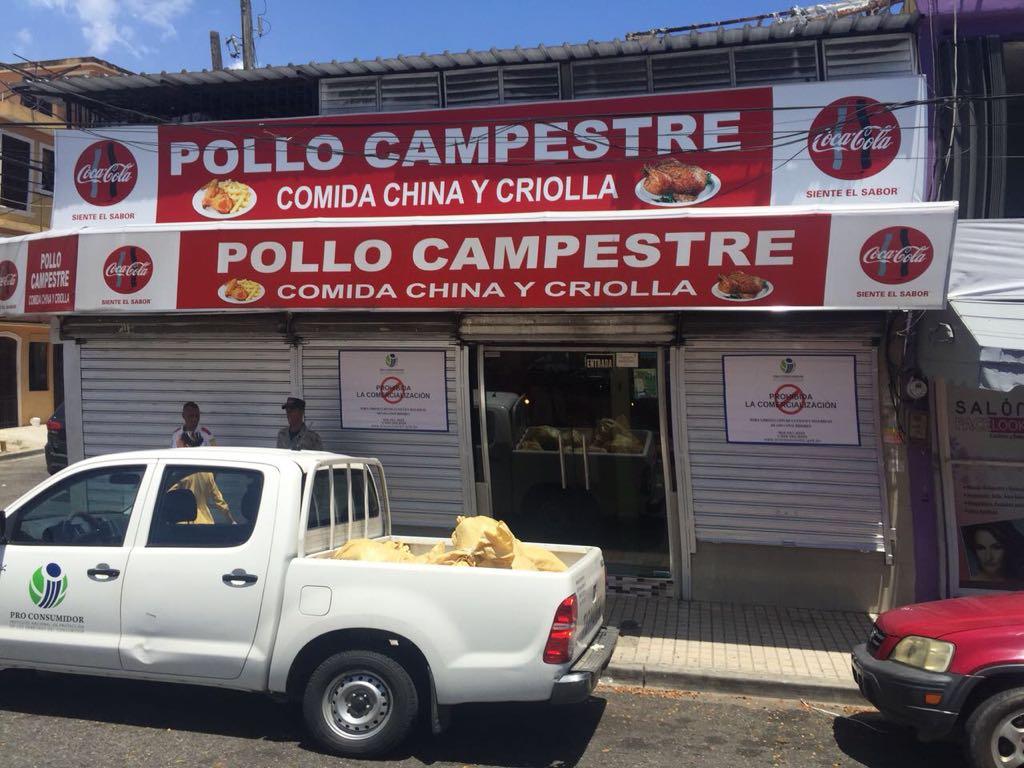 Pro Consumidor cierra restaurante Pollo Campestre