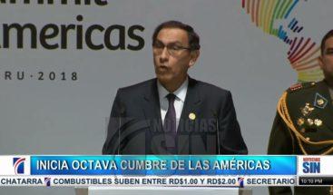 Inauguran formalmente Octava Cumbre de las Américas en Perú