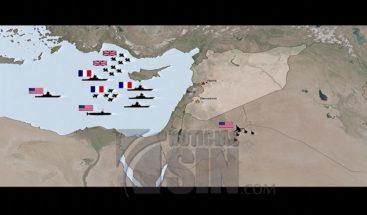 Los puntos de bombardeos en Siria que fueron atacados