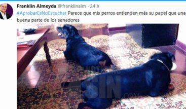 Senadores condenan comentario de Franklin Almeyda en Twitter