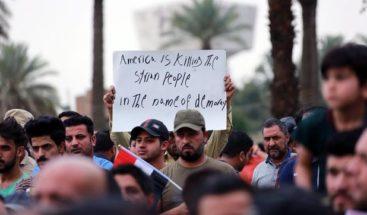 Miles de personas protestan en Irak contra ofensiva de EEUU en Siria
