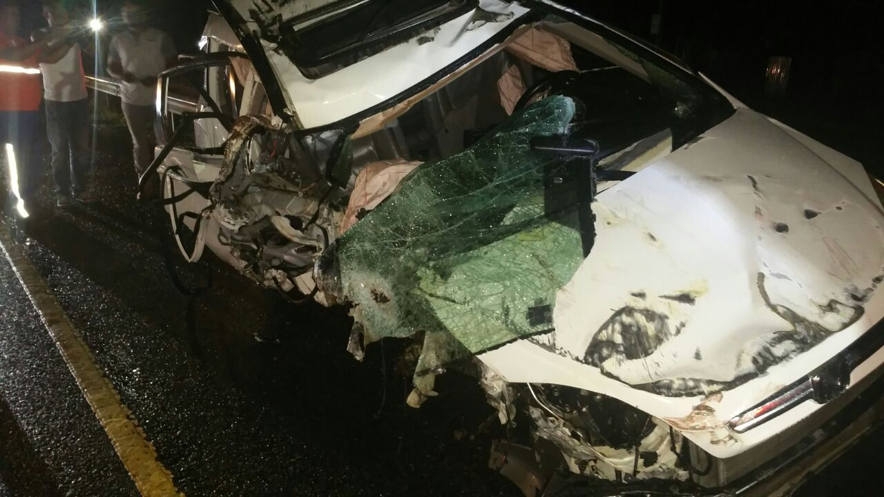 Al menos cincos personas heridas en accidente en autopista Duarte