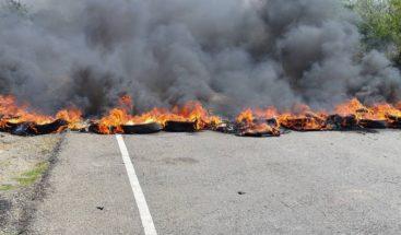 Protestas en Carbonera exigiendo servicio energético de 24 horas