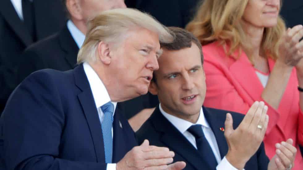 Macron advierte a Trump que hacer una guerra