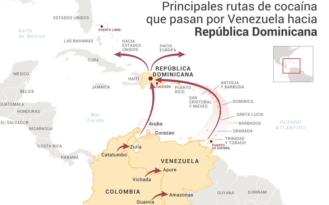 República Dominicana y Venezuela: Tráfico de cocaína por el Caribe