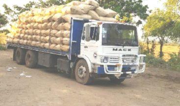 Roban camión cargado de arroz en Montecristi