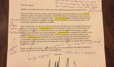 Las correcciones que hizo una maestra de inglés a una carta de la Casa Blanca