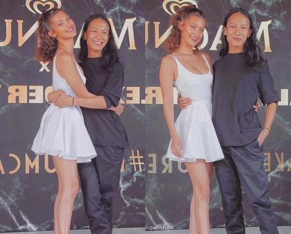 Bella Hadid y Alexander Wang, pura complicidad en Cannes