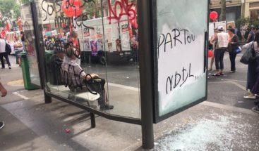 Disturbios en París durante protestas contra Macron