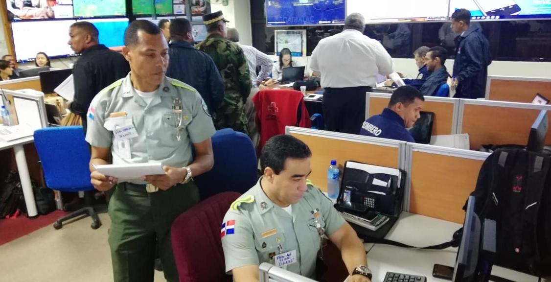 DIGESETT participa en ejercicio de simulación de huracanes coordinado por el COE