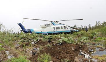Cae helicóptero en que viajaba ministro de Medio Ambiente