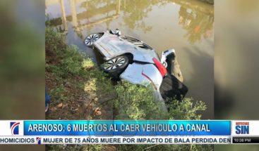 Seis muertos al caer vehículo a un canal de riego en Arenoso
