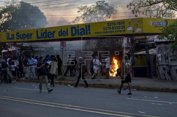 Violencia vuelve a Nicaragua durante marchas, con 3 muertos y unos 34 heridos