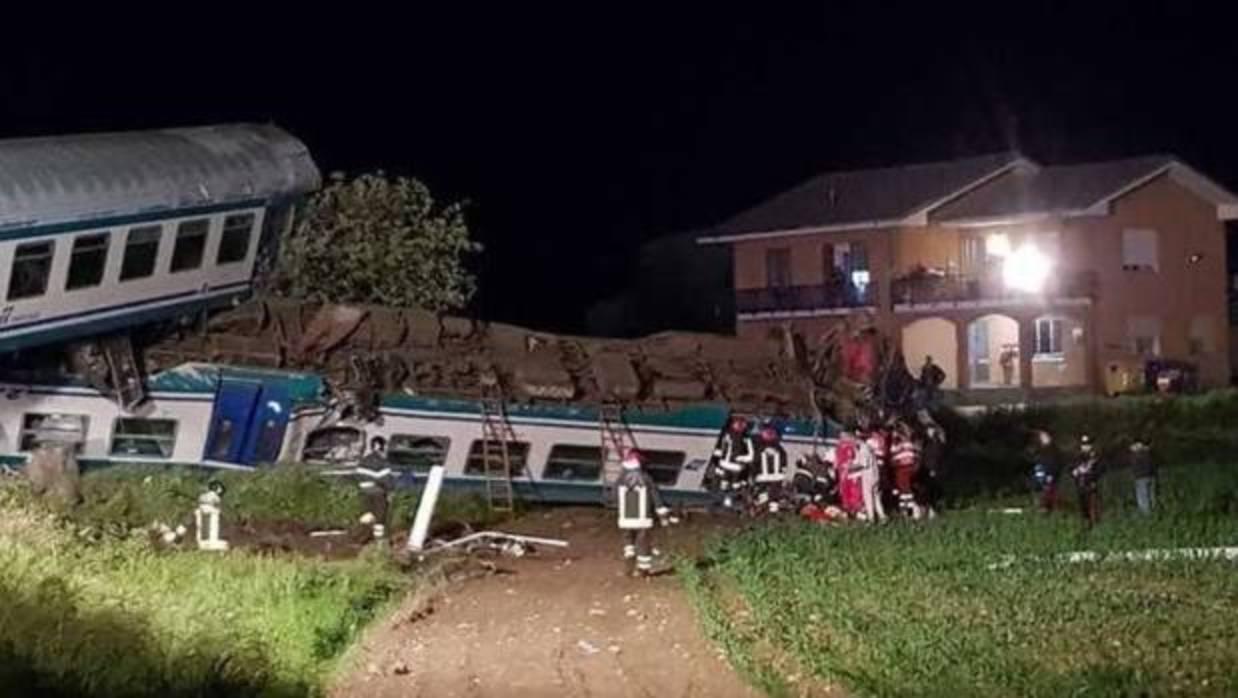 Al menos dos muertos y 20 heridos en un accidente de tren en Italia