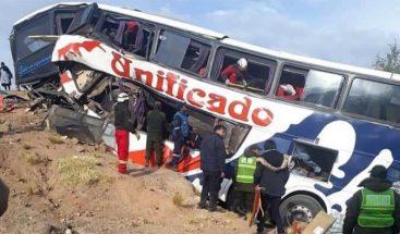 Al menos 13 fallecidos y 30 heridos en un accidente de tráfico en Bolivia