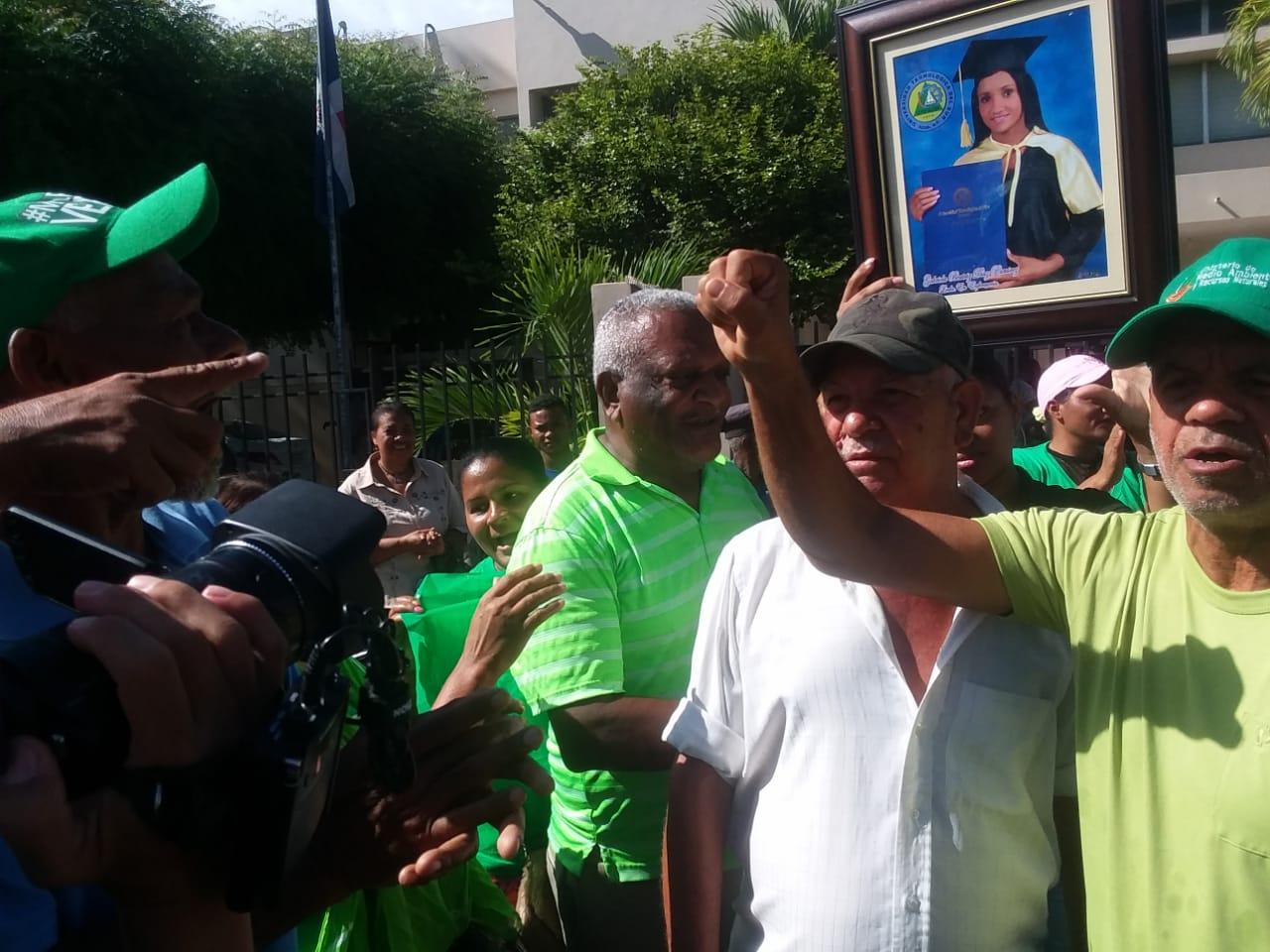 Marcha Verde en Azua exigen sean llevados todos los corruptos a la cárcel